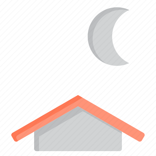 chescent, cloud, meteorology, moon, sky, weather icon