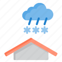 cloud, heavy, meteorology, sky, snow, weather icon