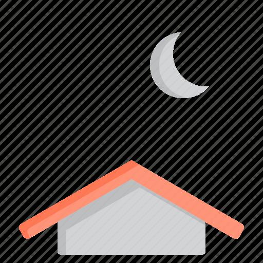 cloud, meteorology, moon, sky, weather icon