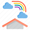 cloud, meteorology, rainbow, sky, weather icon