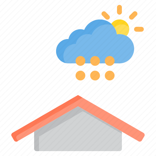 and, cloud, hail, meteorology, sky, sun, weather icon