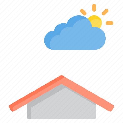 cloud, meteorology, sky, sunny, weather icon