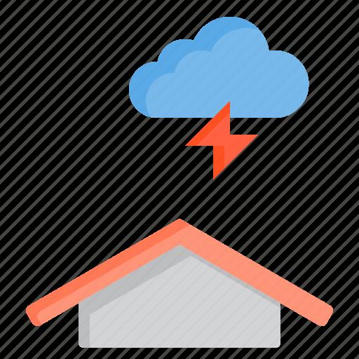 cloud, meteorology, sky, thunder, weather icon