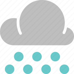 cloud, forecast, heavy, rain, snowball, weather icon