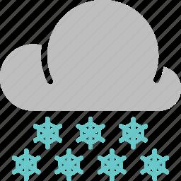 forecast, heavy, snow, snowfall, weather, winter icon