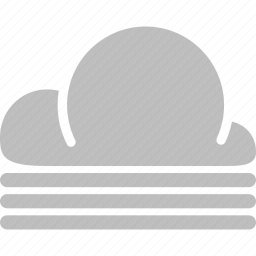 cloud, forecast, misty, weather icon