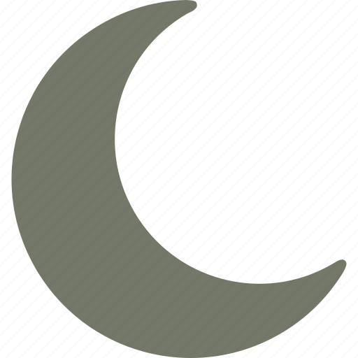 forecast, moon, night, weather icon