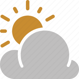 cloudy, forecast, sun, sunny, weather icon