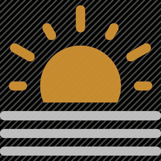 fog, storm, sun, sunny, weather icon