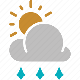 forecast, hailstones, sun, sunny, weather icon