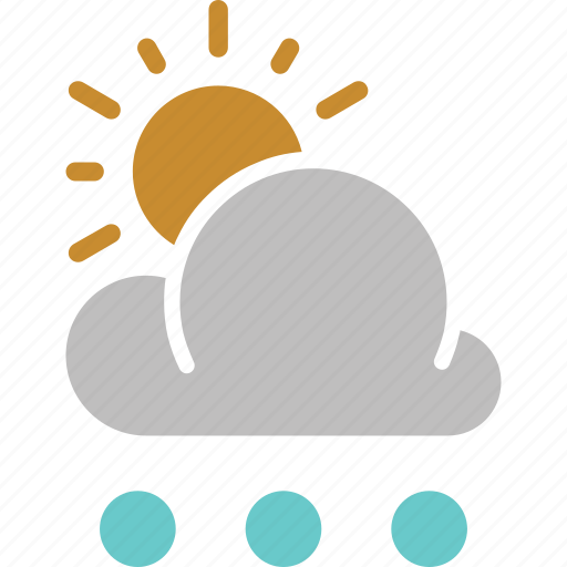 forecast, rain, snowball, sun, sunny, weather icon