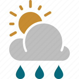 forecast, rainy, sun, sunny, weather icon