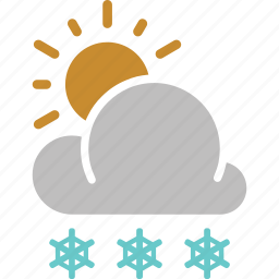 forecast, snow, snowfall, sun, sunny, weather icon
