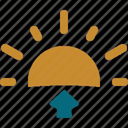 forecast, sun, sunrise, weather icon