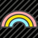 good day, nice day, rainbow icon