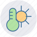 climate, hot, sun, temperature, thermometer, weather icon