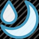 cool, moon, night, rain, rainy, weather icon