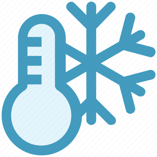 cold, estate, real, snow, temperature, thermostat, weather icon