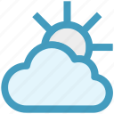 cloud, day, forecast, sun, sunny, thin, weather