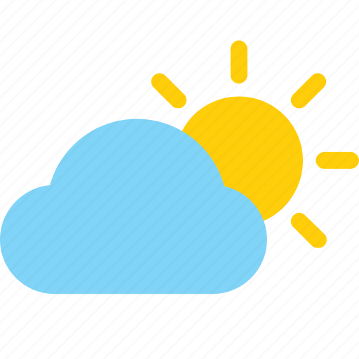 Weather, cloud, color, sunny day, sun icon - Download on Iconfinder