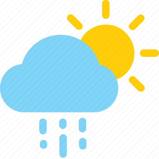 cloud, color, icons, rain, sunny day, weather icon