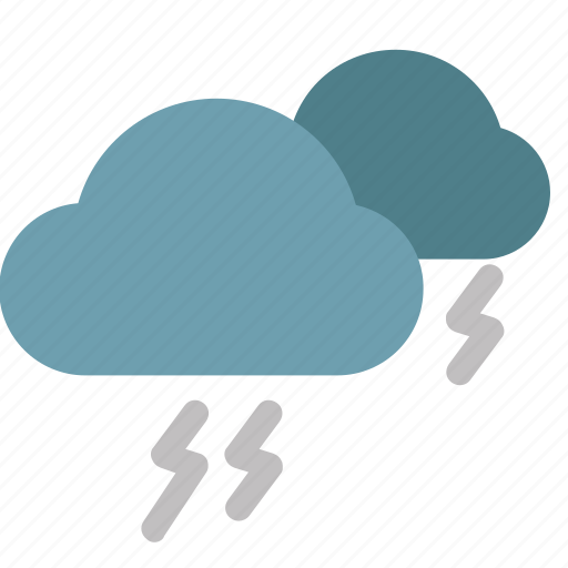 cloud, color, icons, thunder, thunderstorm, weather icon