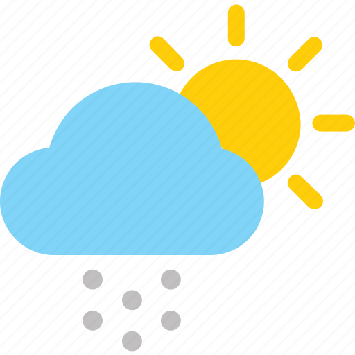 Weather, cloud, color, snow, sun icon - Download on Iconfinder