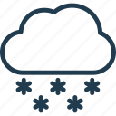 cloud, forecast, nature, snow, weather, winter icon