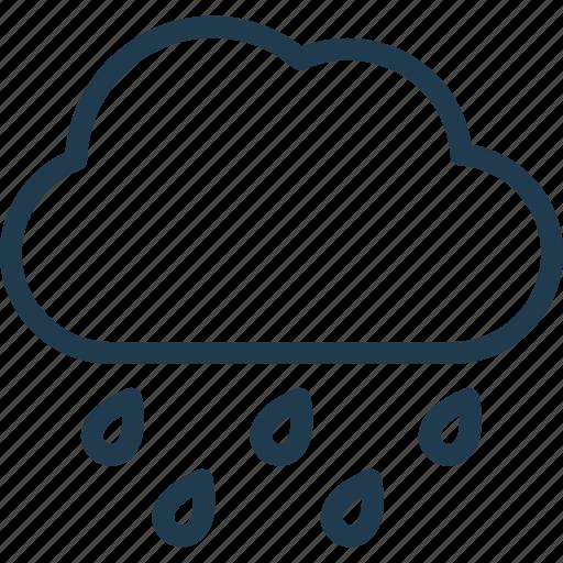cloud, forecast, nature, rain, weather icon