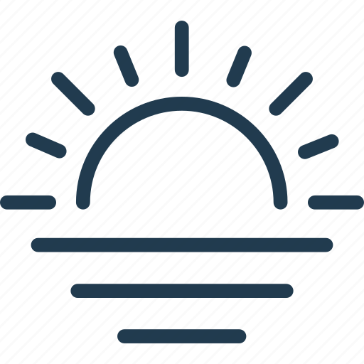 forecast, nature, sun, sunrise, sunset, weather icon