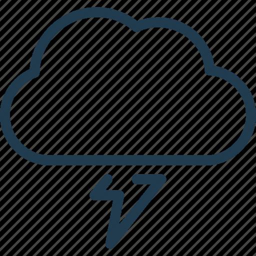 bolt, cloud, forecast, nature, razor, storm, weather icon