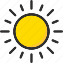 day, forecast, sun, weather icon