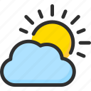 cloud, day, forecast, sky, sun, weather icon