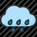 cloud, drop, forecast, rain, sky, weather icon