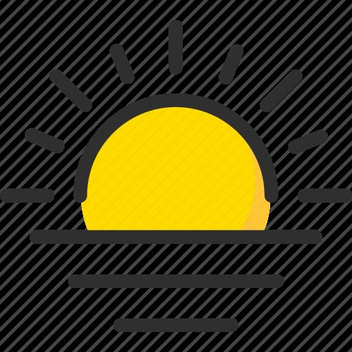 day, forecast, morning, sun, sunrise, sunset, weather icon