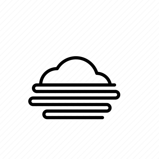 cloud, cloudy, fog, forecast, weather icon