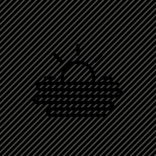 fog, forecast, sun, weather icon