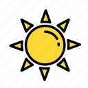cold, heat, sun icon