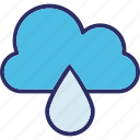 cloud, cloud drop, drop, raindrop icon