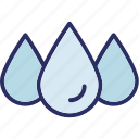 droplet, drops, raindrop, raining icon