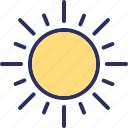 bright day, morning, sun, sunny day icon