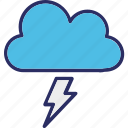 cloud, lightning, rain storm, thunderstorm icon