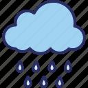 clouds, rain, raining, rainy climate icon