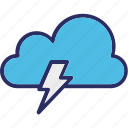 bolt, lightning, power, thunder icon