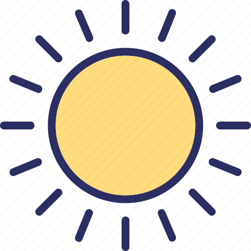 bright day, morning, sunny day, sunshine icon