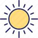 bright day, morning, sun, sunshine icon