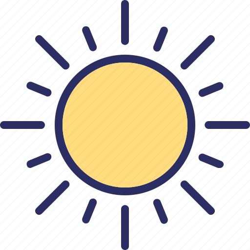 bright day, morning, sun, sunshine icon