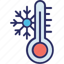 cold weather, frost, low temperature, snowflake icon