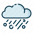 climate, forecast, hail, meteorology, weather icon