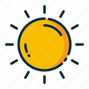 climate, forecast, meteorology, sun, weather icon